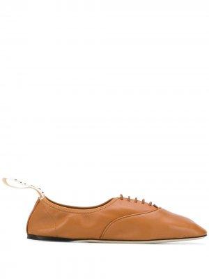 Туфли дерби на шнуровке LOEWE. Цвет: коричневый