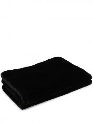 Одеяло Brady из искусственного меха Apparis. Цвет: черный