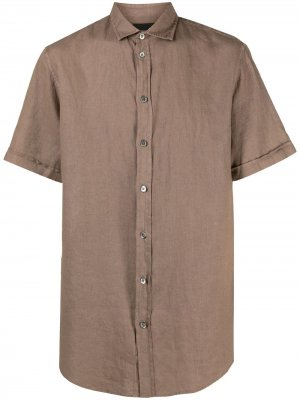 Рубашка с короткими рукавами Emporio Armani. Цвет: нейтральные цвета