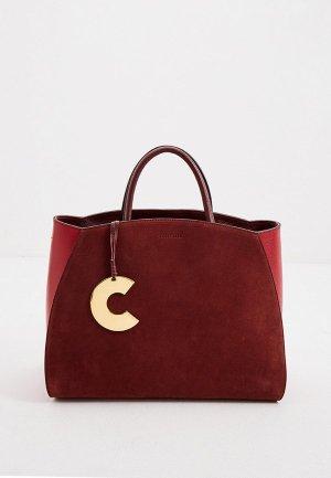 Сумка Coccinelle. Цвет: бордовый