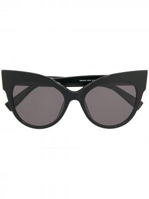 Солнцезащитные очки в оправе кошачий глаз Max Mara. Цвет: черный