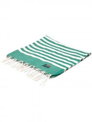 Пляжный коврик в полоску Mc2 Saint Barth. Цвет: зеленый
