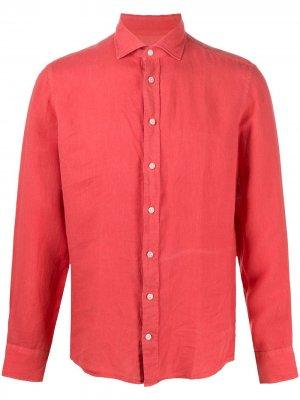 Рубашка с длинными рукавами Hackett. Цвет: красный