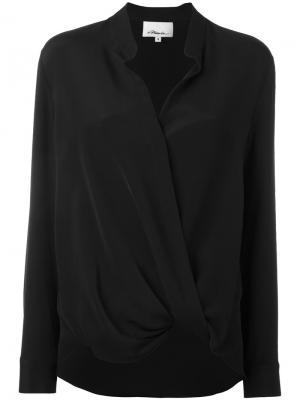 Блузка с запахом 3.1 Phillip Lim. Цвет: черный