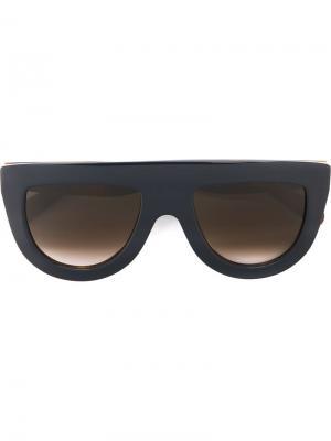 Солнцезащитные очки Celine Eyewear. Цвет: синий