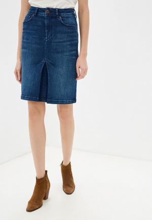 Юбка джинсовая Pepe Jeans. Цвет: синий