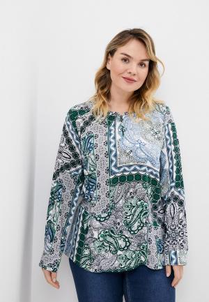 Блуза Ulla Popken. Цвет: синий