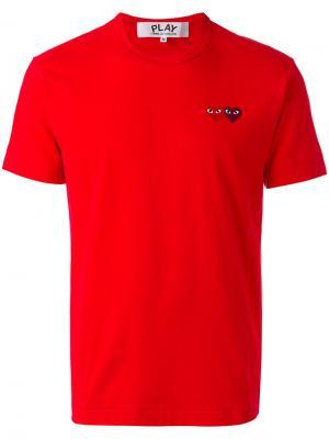 Футболка с вышитым логотипом Comme Des Garçons Play. Цвет: красный