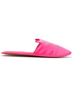 Тапочки Kitty Charlotte Olympia. Цвет: розовый