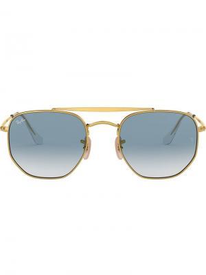 Солнцезащитные очки Marshal Ray-Ban. Цвет: золотистый