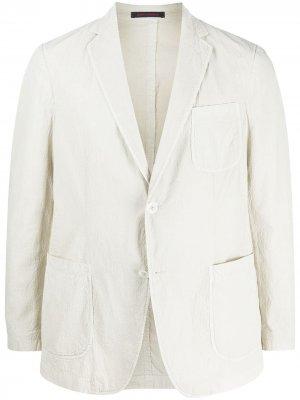 Пиджак с глубоким V-образным вырезом The Gigi. Цвет: нейтральные цвета