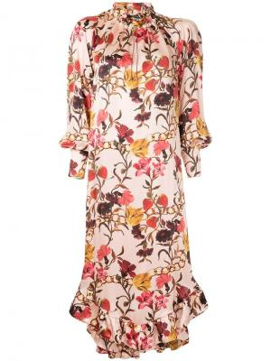 Ruffle hem floral dress Mother Of Pearl. Цвет: разноцветный