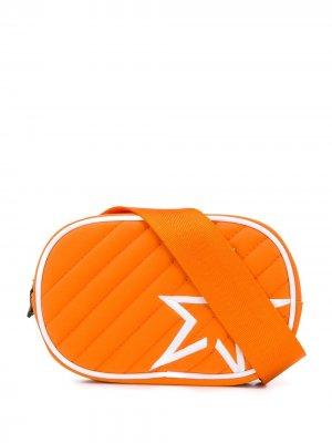 Стеганая поясная сумка с нашивкой Perfect Moment. Цвет: оранжевый