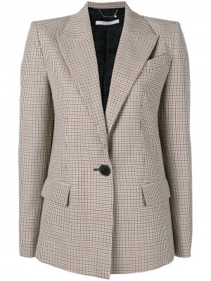Однобортный пиджак в клетку Givenchy. Цвет: коричневый