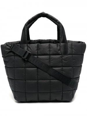 Большая стеганая сумка-тоут VeeCollective. Цвет: черный
