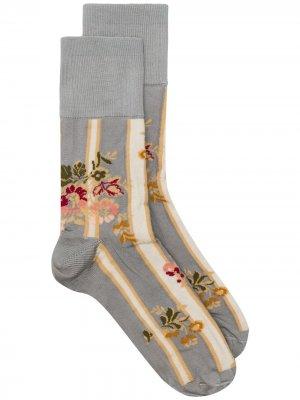 Носки с цветочным узором Simone Rocha. Цвет: серый