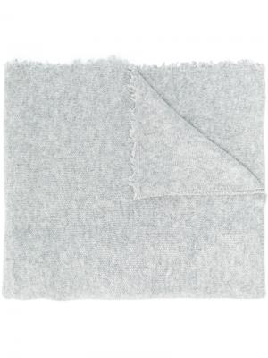 Шарф с необработанными краями Altea. Цвет: серый