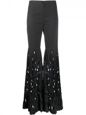 Плиссированные брюки 1990-х годов с вырезами Romeo Gigli Pre-Owned. Цвет: серый