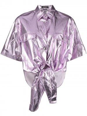 Рубашка с эффектом металлик Isabel Marant. Цвет: фиолетовый