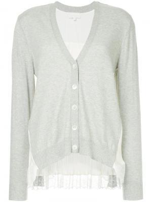 Lace pleated cardigan Clu. Цвет: серый
