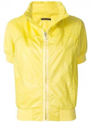 Куртка с воротником-стойкой и короткими рукавами pre-owned Louis Vuitton. Цвет: желтый
