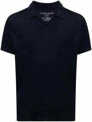 Рубашка поло Majestic Filatures. Цвет: синий