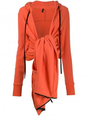 Куртка с завязкой спереди UNRAVEL PROJECT. Цвет: оранжевый