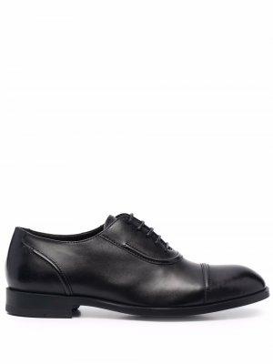 Оксфорды на шнуровке Ermenegildo Zegna. Цвет: черный
