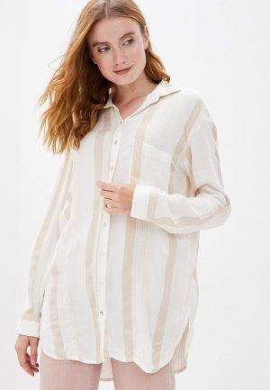 Рубашка Billabong. Цвет: бежевый