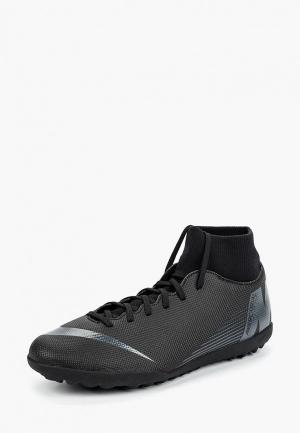 Бутсы зальные Nike. Цвет: черный