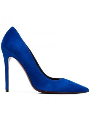 Туфли-лодочки с заостренным носком Deimille. Цвет: синий
