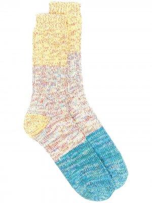 Носки Charlie в стиле колор-блок THUNDERS LOVE. Цвет: желтый
