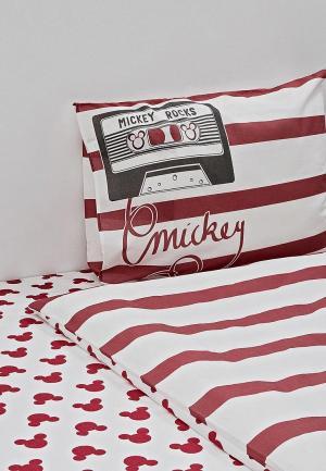 Постельное белье 1,5-спальное Disney. Цвет: белый