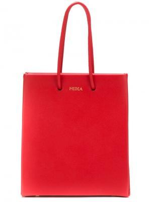 Маленькая сумка-шоппер Medea. Цвет: красный