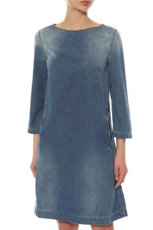 Платье джинсовое Alexander Terekhov. Цвет: голубой