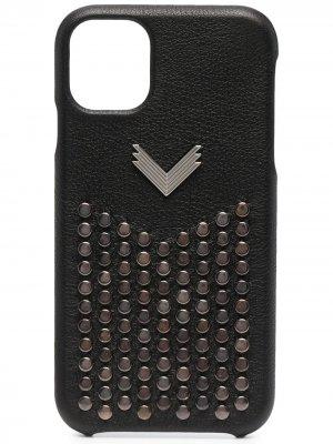 Декорированный чехол для iPhone 11 Manokhi. Цвет: черный
