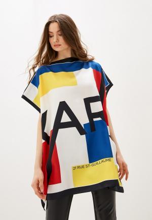 Туника пляжная Karl Lagerfeld. Цвет: разноцветный