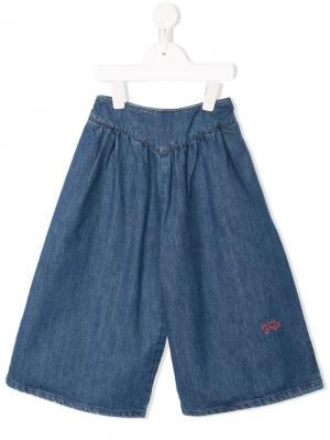 Elasticated waistband wide-legged jeans Bobo Choses. Цвет: синий