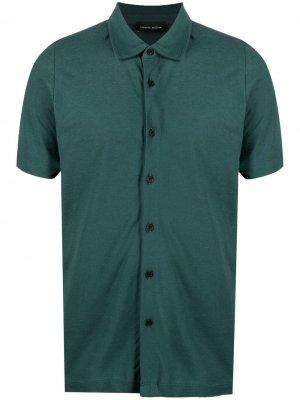 Рубашка поло с короткими рукавами Roberto Collina. Цвет: зеленый
