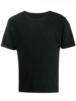 Плиссированная футболка Homme Plissé Issey Miyake. Цвет: черный