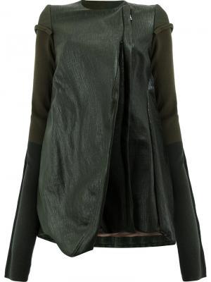 Куртка свободного кроя Rick Owens. Цвет: зеленый