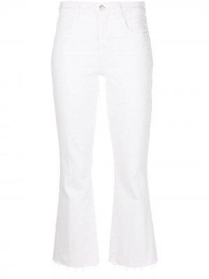 LAgence укороченные джинсы с завышенной талией L'Agence. Цвет: белый