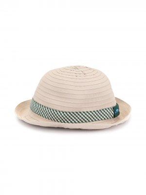 Шляпа с лентой в клетку гингем Familiar. Цвет: коричневый