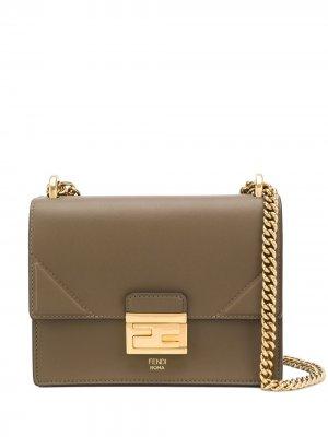 Маленькая сумка на плечо Kan U Fendi. Цвет: зеленый