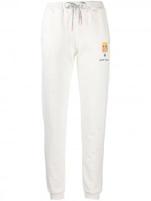 Спортивные брюки с вышитым логотипом Chiara Ferragni. Цвет: белый