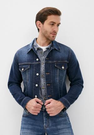 Куртка джинсовая Care Label. Цвет: синий