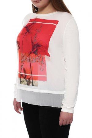 Блуза LAUREL. Цвет: красный
