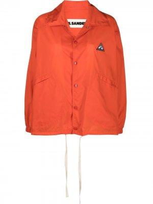 Легкая куртка с нашивками Jil Sander. Цвет: оранжевый