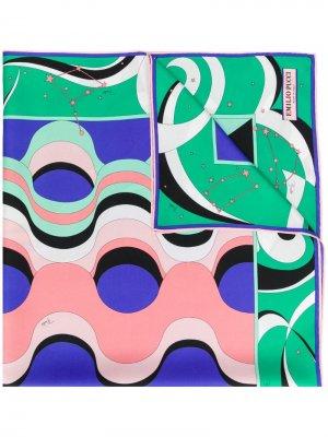 Платок Copacabana с принтом Emilio Pucci. Цвет: зеленый