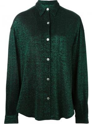 Рубашка с отделкой металлик Jean Paul Gaultier Vintage. Цвет: зеленый